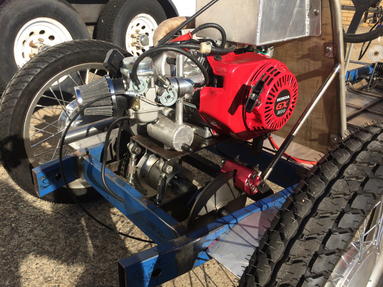 CK Engine and drive assembly RHS